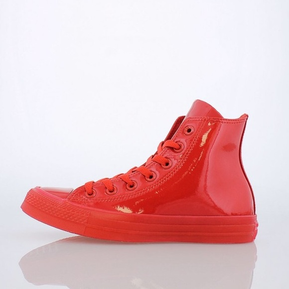 NWT Converse Chuck Taylor Red Patent Leather Hi NWT